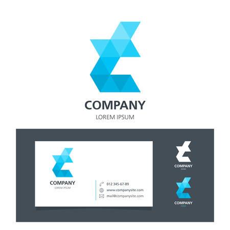 Lettre T - Logo Élément graphique avec carte de visite - illustration Banque d'images - 68039621