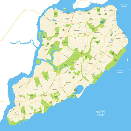 Highly detailed map of New York