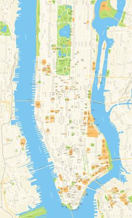 Zeer gedetailleerde kaart van New York Stockfoto - 68039831