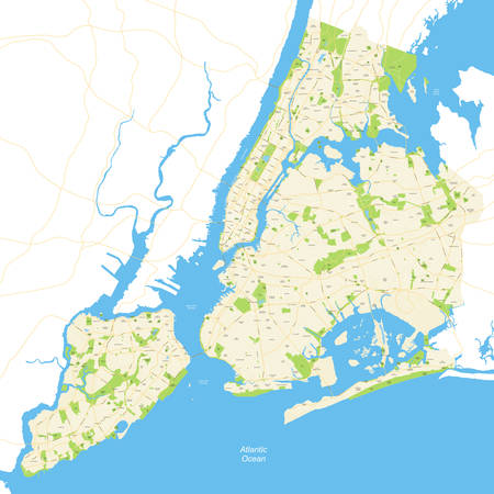 new york map: Highly detailed map of New York