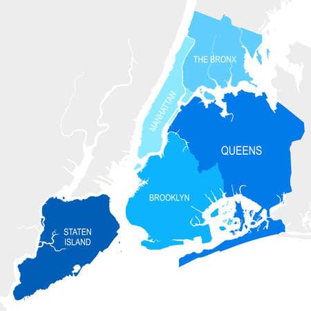 ニューヨーク地図  イラスト・ベクター素材