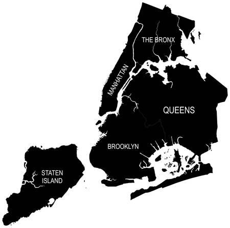 New York Vector Map Ilustração