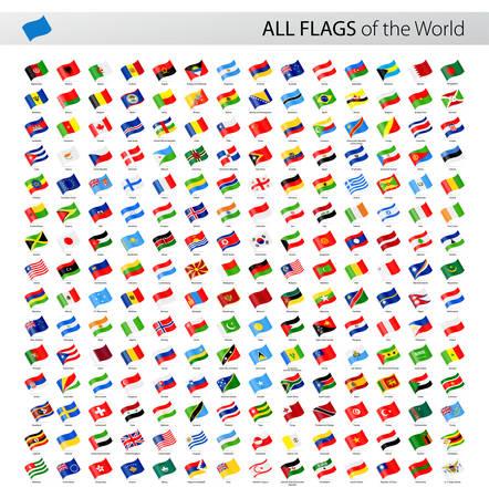 banderas del mundo: Colección de vectores de todas las banderas del vector del mundo