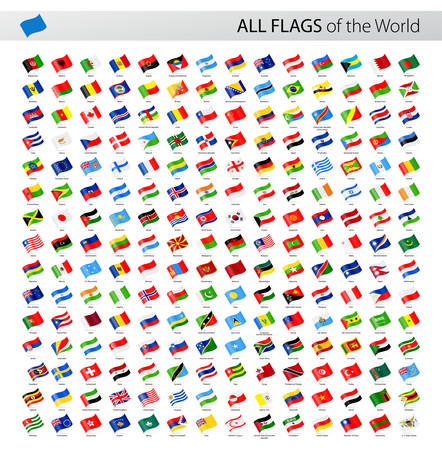 Vector Collection of All World Vector Flags Çizim