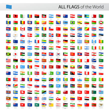 flags of the world: Vector Collection of All World Vector Flags Illustration