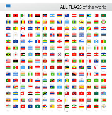Vector Collection of All World Vector Flags  イラスト・ベクター素材