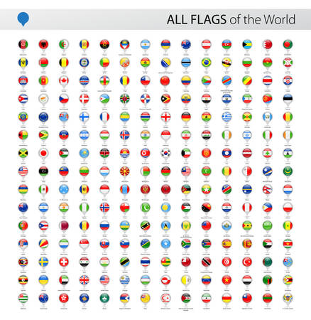 Vector Collection of All World Vector Flags Illustration