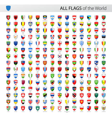 world flags: Vector Collection of All World Vector Flags Illustration