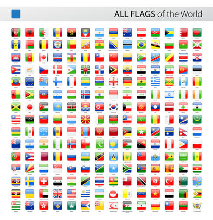 all european flags: Vector Collection of All World Vector Flags Illustration