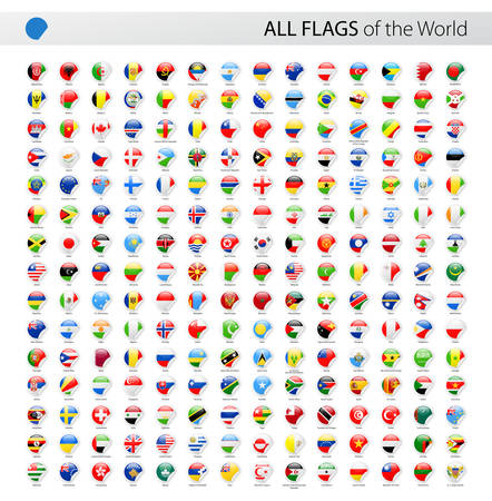 Vector Collection of All World Vector Flags Иллюстрация