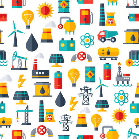 power industry: Vector Pattern for Power Industry Illustration