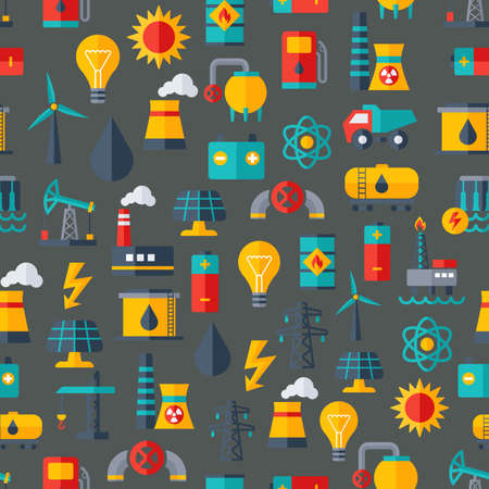 industry pattern: Vector Pattern for Power Industry Illustration