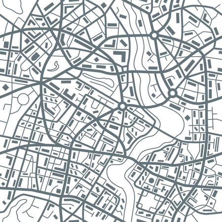 City map abstract seamless pattern - Illustration