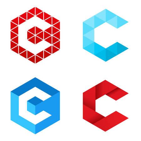 Letter C - Logo Set Vectores