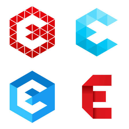 Illustration vectorielle du logo de lettre E