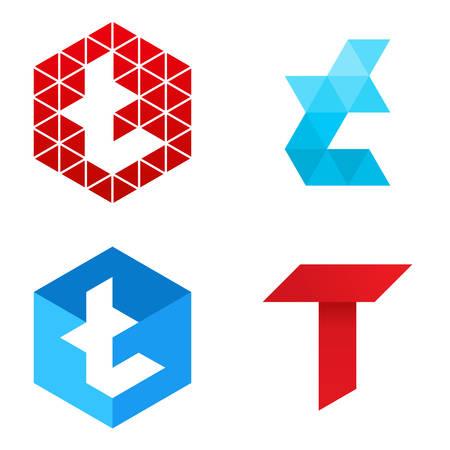 Vector illustration of letter logo T Illustration