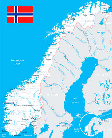 Norway Map Geography Of Norway Map Of Norway Worldatlascom Map Of - Norway map sandefjord
