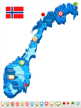 Norway Map Pin Stock Vector Illustration And Royalty Free - Norway map clipart