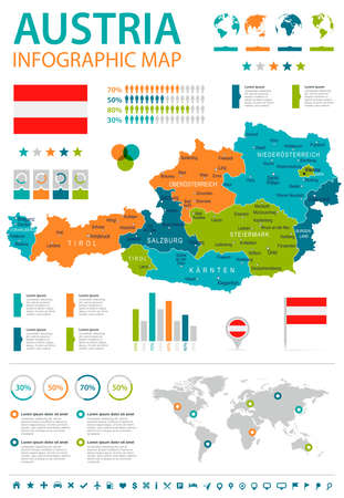 225 austria infographics stock illustrations cliparts and royalty austria infographic map and flag vector illustration gumiabroncs Choice Image