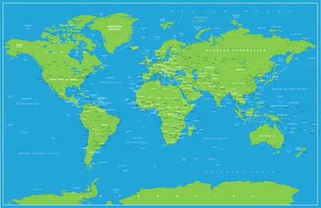 Vintage world map . Illusztráció