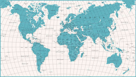 World map vector high detailed illustration of worldmap world map political vintage vector illustration gumiabroncs Image collections