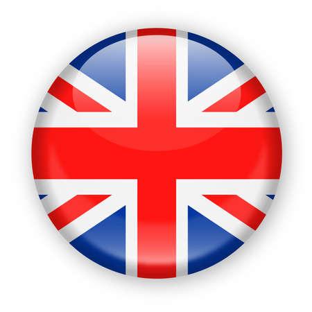 Icona rotonda di vettore della bandiera del Regno Unito - illustrazione Archivio Fotografico - 84800657