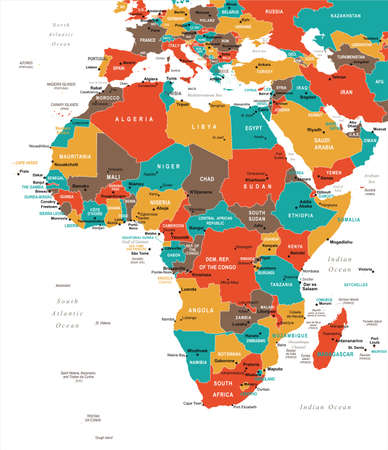 Africa Map - Detailed Vector Illustration