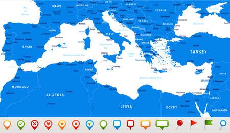 Map illustration. Illustration