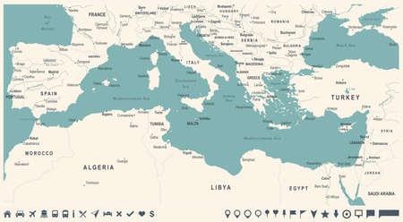 Map illustration. Ilustrace