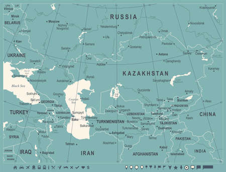 Caucasus Map Images Stock Pictures Royalty Free Caucasus Map - Caucasus map