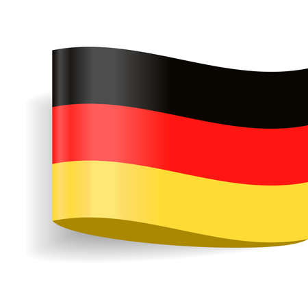 Germany Flag Vector Icon  Illustration