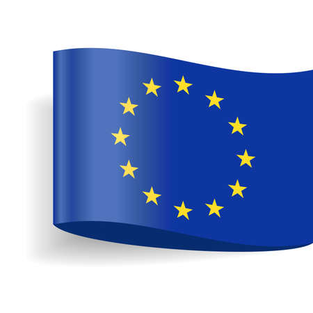 European Union Flag Vector Icon - Illustration