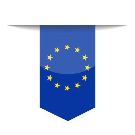European Union Flag Vector Icon - Illustration