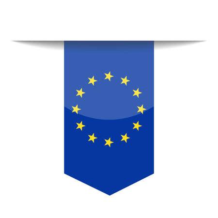 Europese Unie vlag vector pictogram - afbeelding