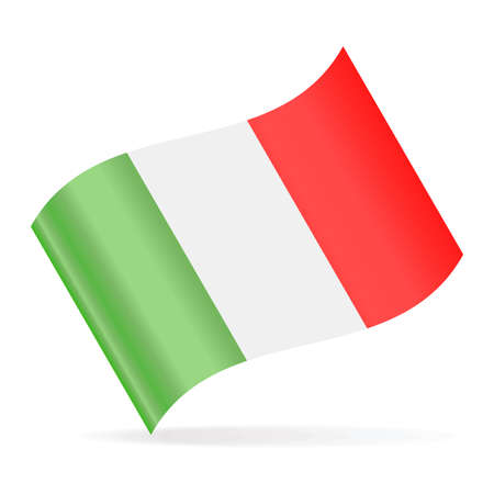 Italy Flag Vector Waving Icon - Illustration