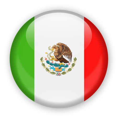 Drapeau du Mexique vecteur rond icône - Illustration