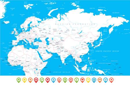 Eurasia Europa Russia China India Indonesia Thailand Africa Map ...