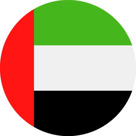 United Arab Emirates Flag Vector Round Flat Icon - Illustration