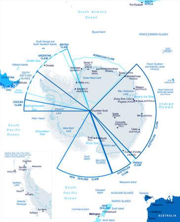 Antarctic region map icon.