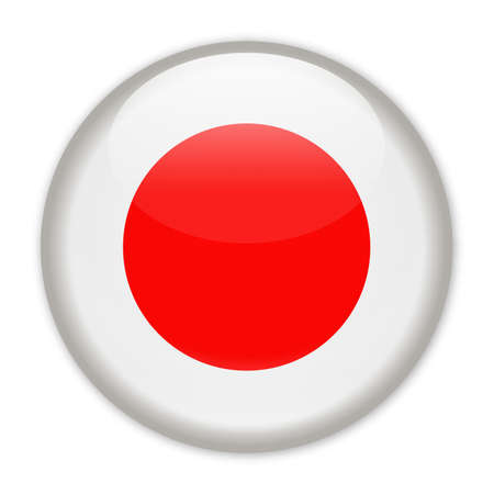 Japan Flag Vector Round Icon - Illustration