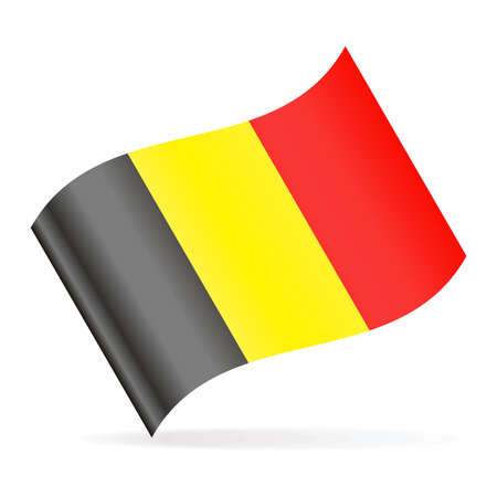 Belgium Flag Vector Waving Icon - Illustration