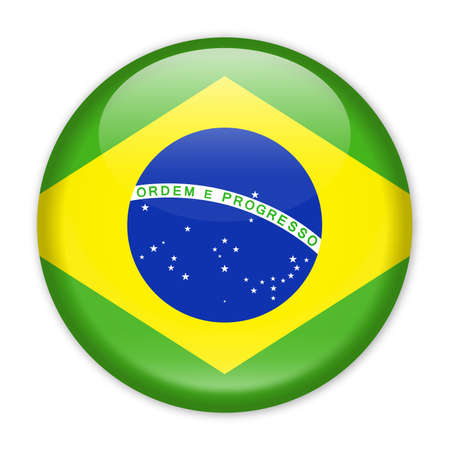 Brazil Flag Vector Round Icon - Illustration Illusztráció