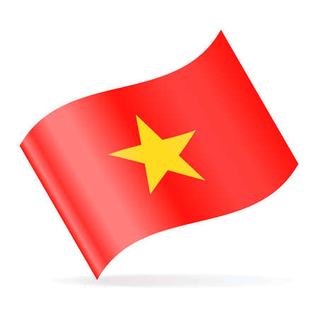 Vietnam Flag Vector Waving Icon - Illustration Ilustrace