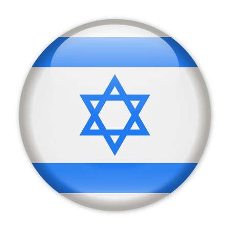 Israel Flag Vector Round Icon - Illustration Illustration