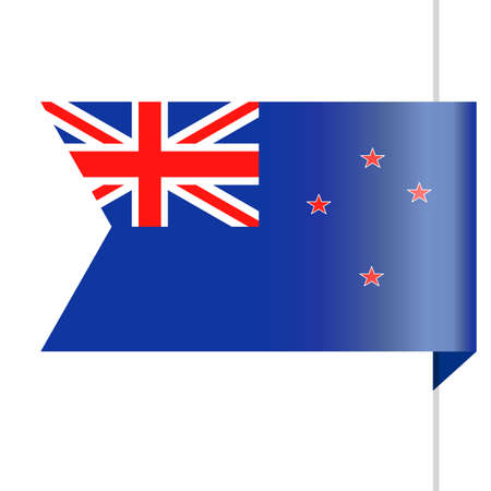 New Zealand Flag Vector Bookmark Icon - Illustration Illustration