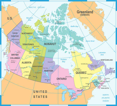 Canada Map - Detailed Vector Illustration Иллюстрация