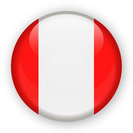 Peru Zealand Flag Vector Round Icon - Illustration.