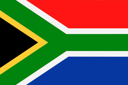 South Africa Flag Vector Icon - Illustration.