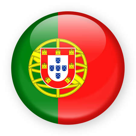 Portugal Flag Vector Round Icon - Illustration 矢量图像