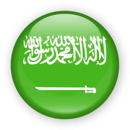 Saudi Arabia Flag Vector Round Icon - Illustration.